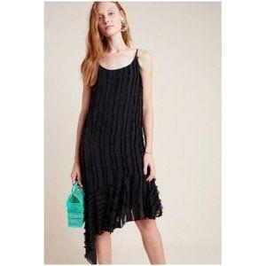 ERI + ALI BLACK FRINGE ASYMMETRIC COCKTAIL DRESS M